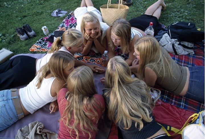 Teenage girls in a group