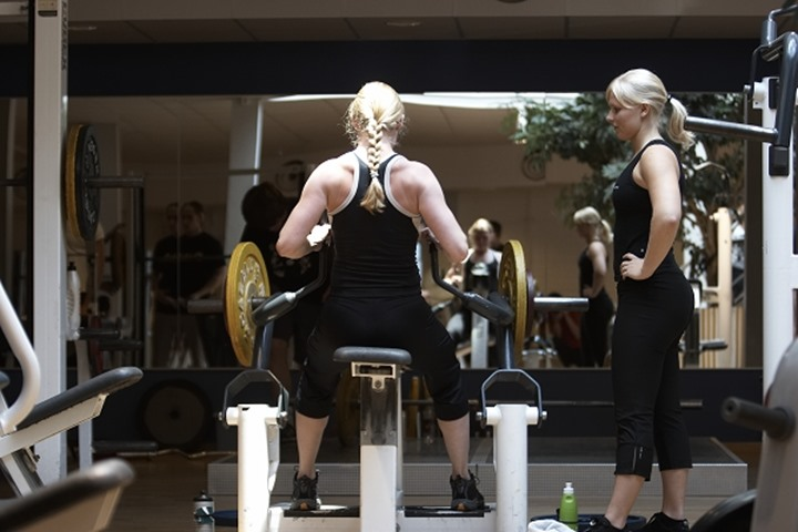 Two swedish girls at the gym