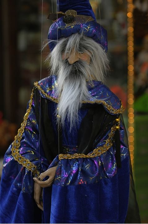 Puppet of an old man in detail
