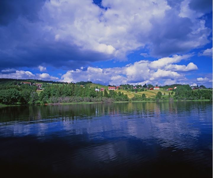 Panoramic view of a lake, Jamtland, Sweden