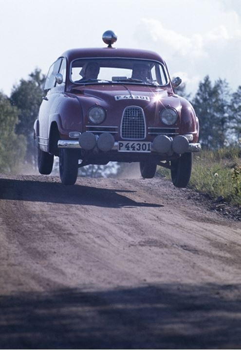 Car moving on a dirt road
