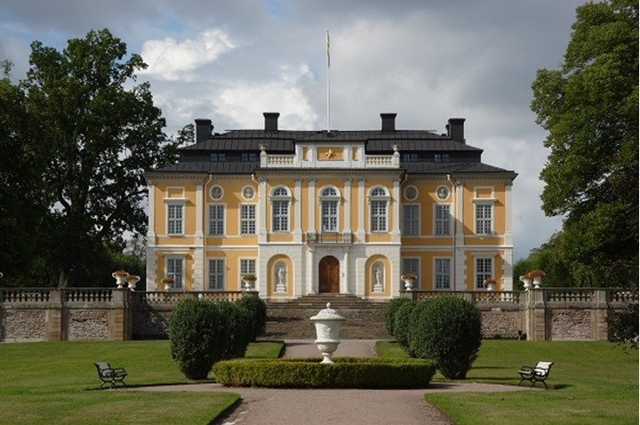 Facade of an architectural castle at Sweden