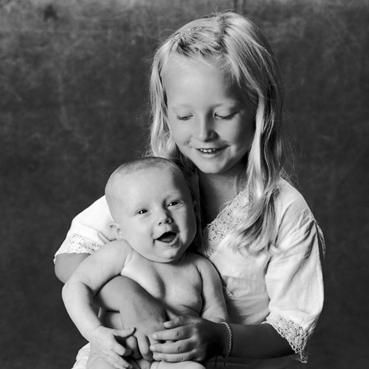 Child with baby sister