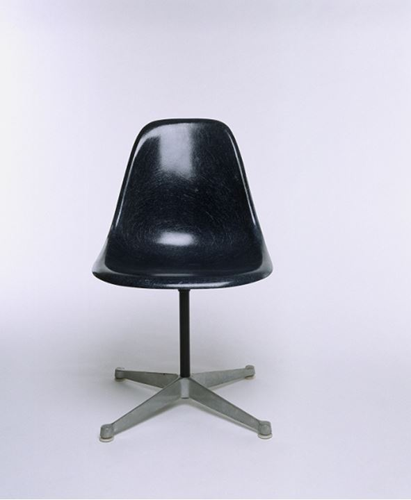Studio shot of a chair with black seat shell