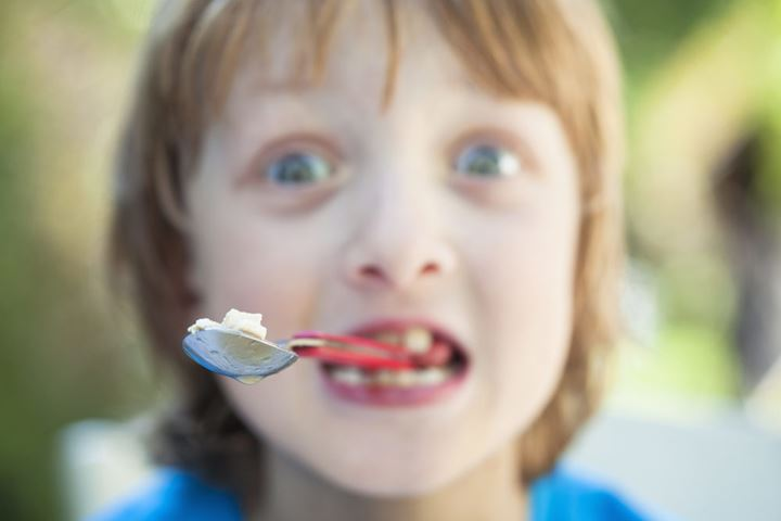 Boy Eating, Fooling Around with Fork