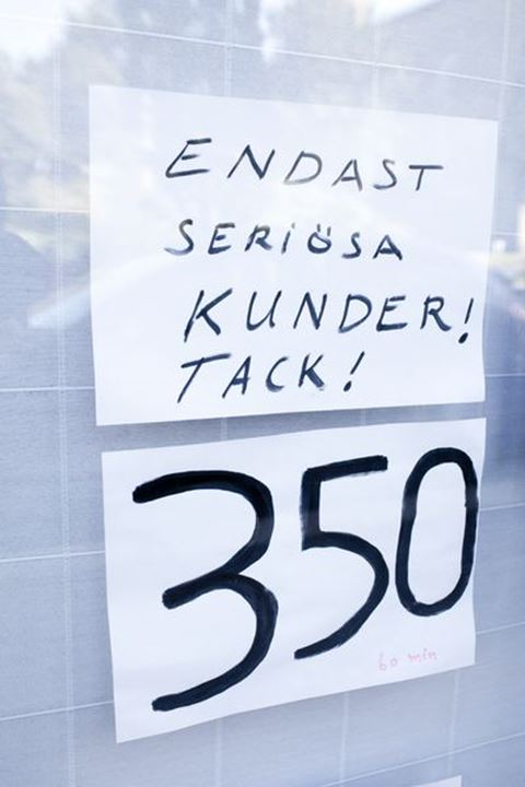 Sign at a massage, Sweden.