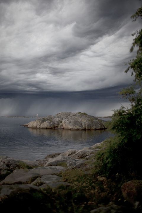 Storm on the way at the island Branno (Brannö). Westcoast, Sweden, summer.