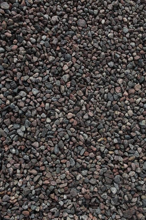 Gravel on a road. Sweden.