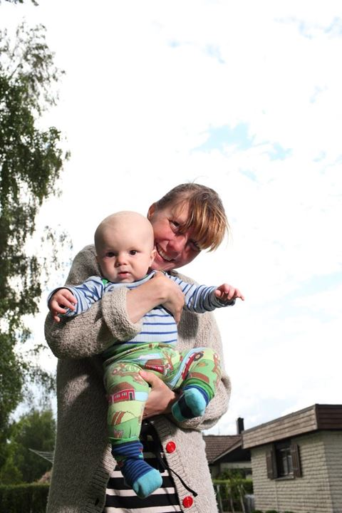 Young mother with her baby son. Sweden.