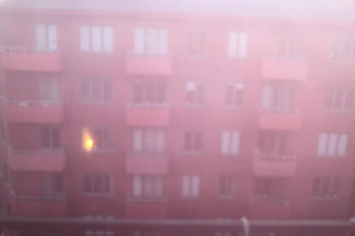 Rental apartments on a foggy day. Gothenburg, Sweden.