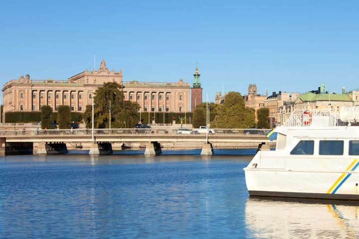 Sweden, Stockholm - The Parliament and tower of The City Hall