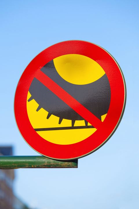 Sweden Stockholm - traffic sign - no studded tires.