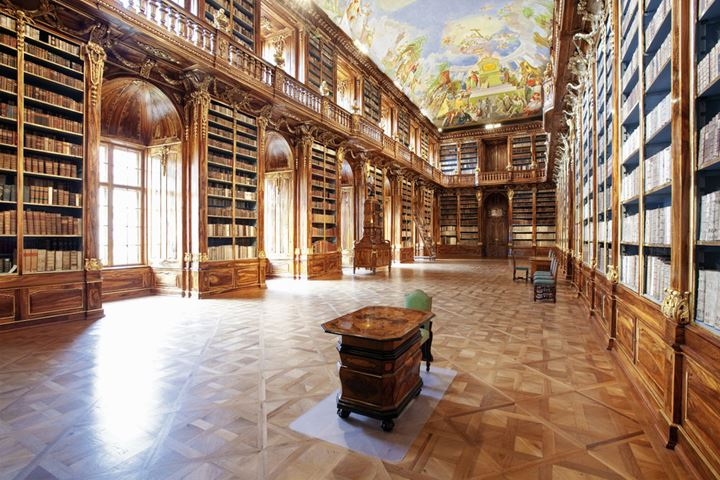 CZECH REPUBLIC PRAGUE, STRAHOV MONASTERY LIBRARY - THE PHILOSOPHICAL HALL.