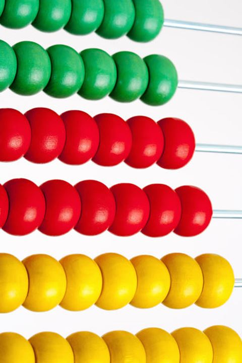 Colorful Wooden Abacus - Isolated on White