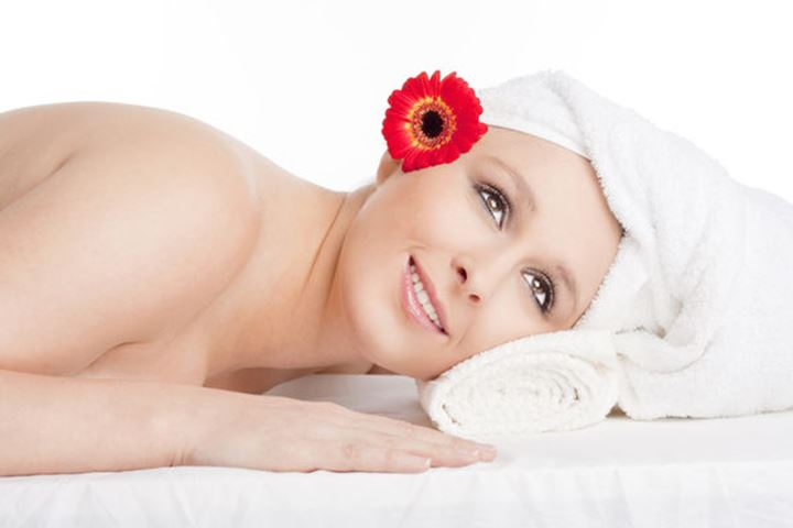 Young Woman in Spa Relaxing