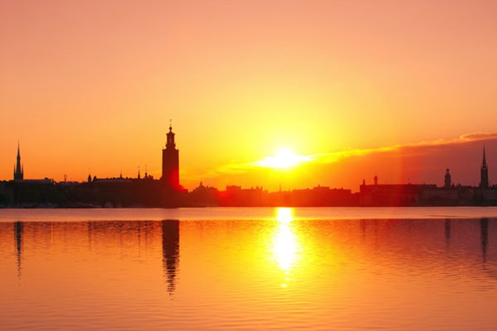 Sweden - Stockholm Skyline at dawn.