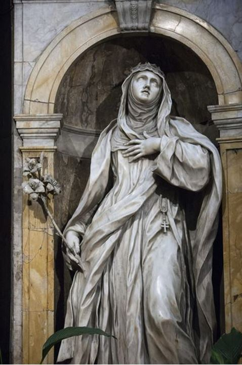 Statues in the Cathedral of Siena, Italy