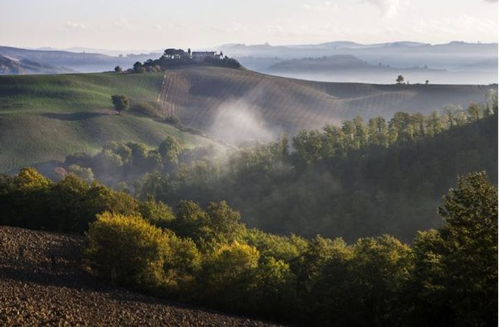 Tuscan the landscape near Montalcino, Italy
