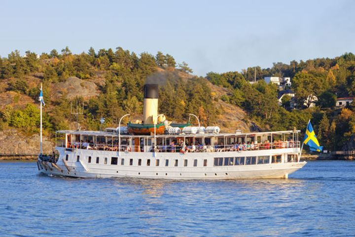 Sweden, Stockholm - Steamboat Ferry Heading for Archipelago.