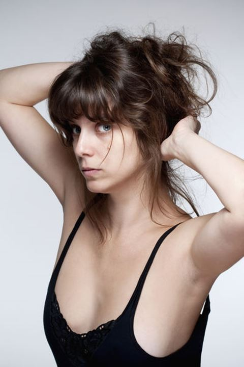 Portrait of a Young Sensual Woman with Brown Hair