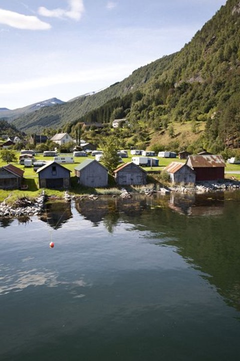 Old boat houses, Sylte, Norway
