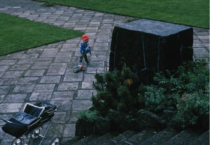 A small child in a park