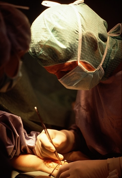A surgeon at work