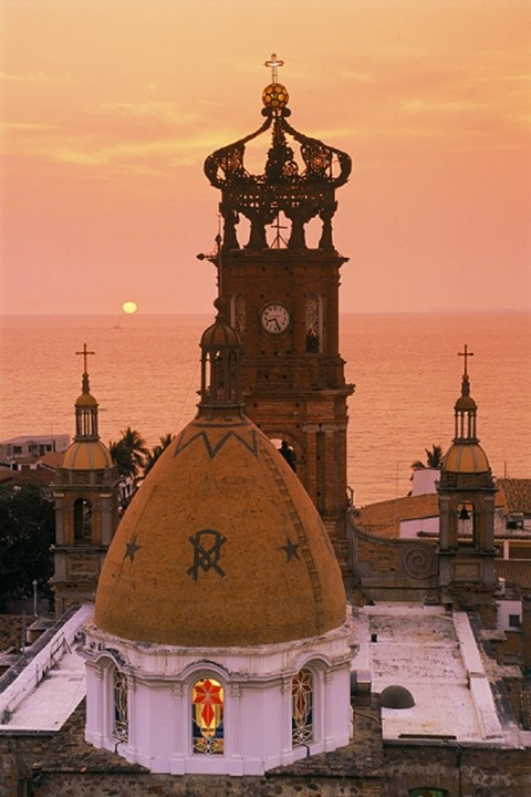Church of Guadalulpe in Puerto Vallarta in Jalisco State Mexico