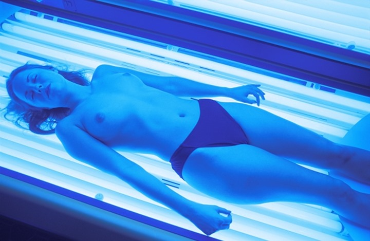 HEALTH AND BEAUTY WOMAN IN SOLARIUM MODEL RELEASED