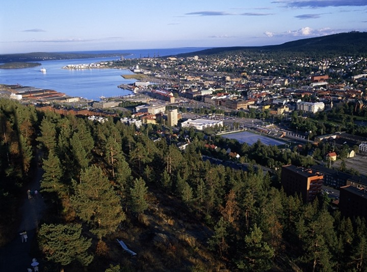 View over harbour, Sundsvall
