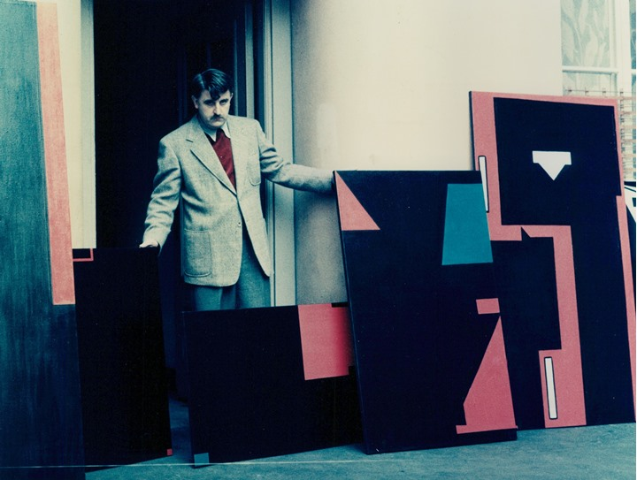 Swedish artist Olle Baertling and his artwork. Oktober 1951.